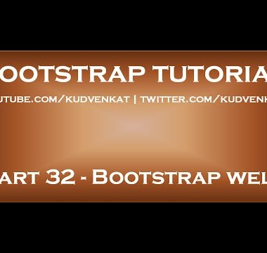 Bootstrap well