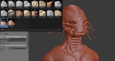 Blender Sculpting – Brushes and how to start.