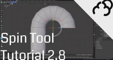 Blender 2.8 – Spin Tool – Tutorial