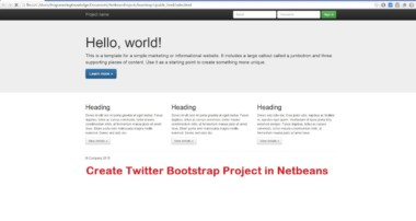 How To Create Twitter Bootstrap Project in Netbeans + Generate Default Bootstrap Template