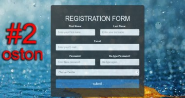 How to create a Registration Form  –  HTML,CSS & BOOTSTRAP #2