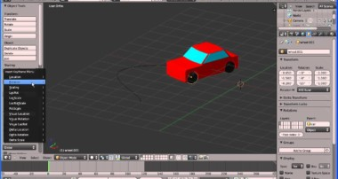 Blender Animation Tutorial A Car Following a Path and the Front Wheels Turning