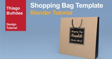 como fazer uma sacola ( shopping Bag ) template blender 3d tutorial