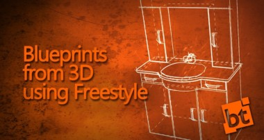 Using Freestyle (non-photorealistic) Rendering with Blender to achieve a blueprint style