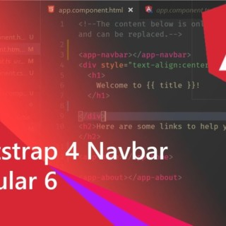 02 – Adding Bootstrap 4 Navbar with Component in Angular 6 project