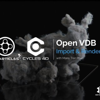 Quick Guide – How to import OpenVDB files to X-Particles, then render  with Cycles 4D.