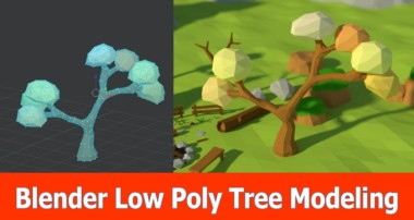 Blender Low Poly Tree Modeling