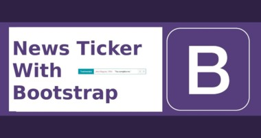 Breaking News Ticker with Bootstrap 4