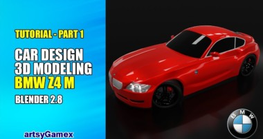 3D Car Modeling Tutorial Part – 1 | BMW Z4 M | Blender 2.8