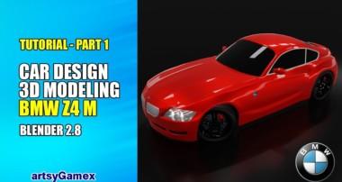 3D Car Modeling Tutorial Part – 1 | BMW Z4 M | Blender 2.8