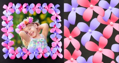 DIY Photo Frame with Paper Flowers – Easy and Simple Paper Crafts Tutorial