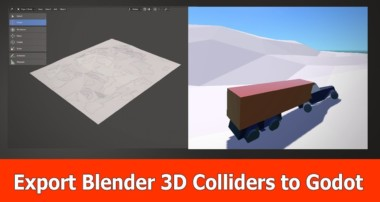 Blender 2.8 & Godot 3 : Export/Import 3D Colliders