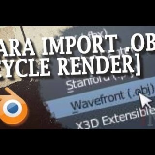 Blender 3D Tutorial Import Obj file  Cycle Render