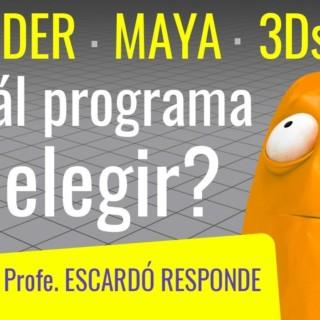 ¿QUE PROGRAMA DE ANIMACION 3D ELEGIR? Maya, Blender, C4D ó 3DMax