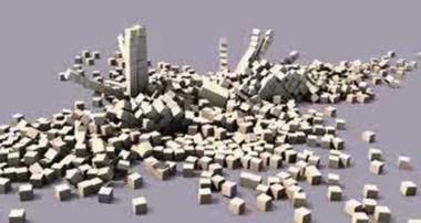 Blender 3D physics animation Casse-Brique moteur physique de blender 3d avec des cubes