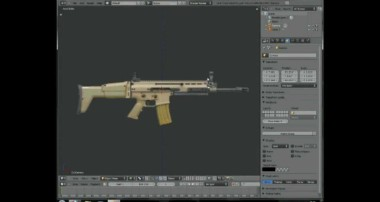 Blender 2.57 weapon modeling tutorial (scar-l) part 1