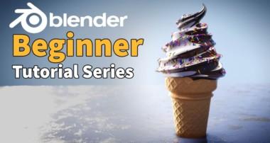 Blender 2.8 Beginner Tutorial – Ice Cream – Part 1 : 3D Basics