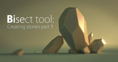 Blender Quick tip №5. Bisect: creating stone pt.1