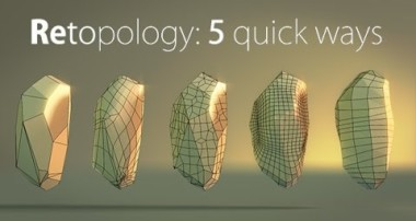 Blender Quick tip №6. Retopology: creating stone pt.2
