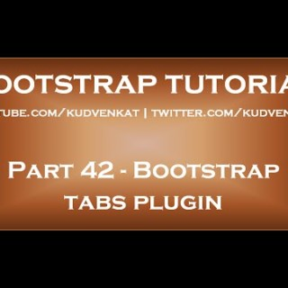 Bootstrap tabs plugin