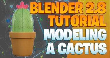 Modeling a cactus – Blender 2.8 Tutorial