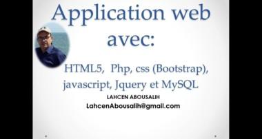 Partie6 Application web avec HTML5, Php, css Bootstrap, javascript, Jquery et MySQL
