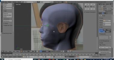 blender 3D頭部建模的進度