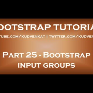 Bootstrap input groups