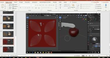 Blender Maça 3D