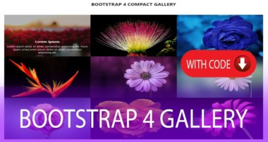How to create Responsive LightBox Gallery with Bootstrap 4 with code