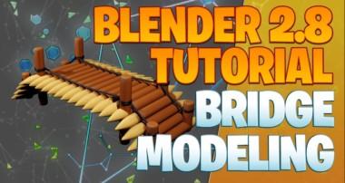Building a wooden bridge – Blender 2.8 Tutorial