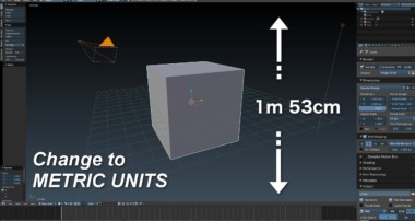 (Blender Tutorial) How to set Blender to Metric units