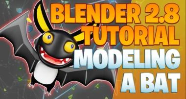 Modeling a bat – Blender 2.8 Tutorial