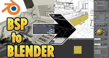 Import BSP file into Blender (CSGO or Garry's Mod level to Blender3D)