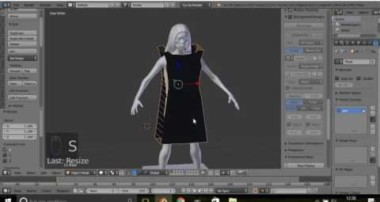Blender Tutorial: How to make a realistic dress. 3D cloth / clothing / clothes simulation