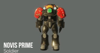 Novis Prime Soldier – 3D Turntable Blender 2.8 Character Model EEVEE Render