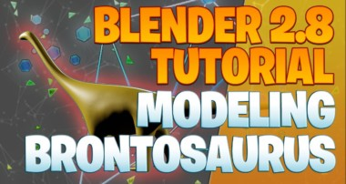 Modeling a Brontosaurus – Blender 2.8 Tutorial