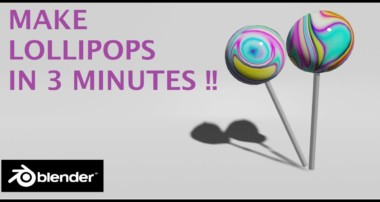 [2.8] Blender Tutorial: Make Lollipops in Blender, Blender for Beginners
