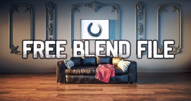 Blender 2.8 Free Model – Leather Studio Sofa 3D Model