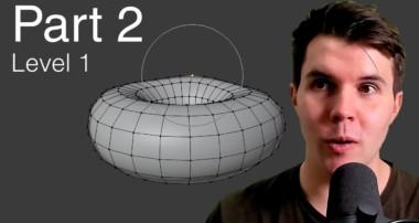 Beginner Blender Tutorial Level 1 – Part 2: Modelling