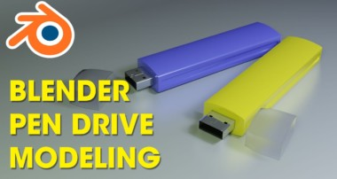 Blender | Easy Pen drive modeling | Tutorial for beginner | 3d blender modeling | How to model