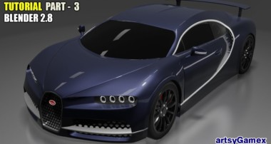 Learn How to 3D Design Bugatti Chiron Car in Blender 2.8 | Tutorial Part – 3