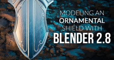Modeling an Ornamental Shield in Blender 2.8 – Beginner Tutorial