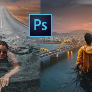 Quick Photoshop Blend Images to a Composite   Photoshop Tutorial