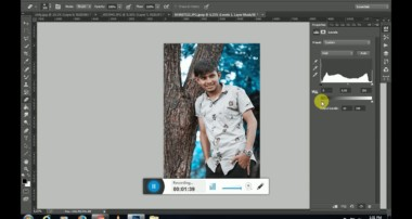 Blue Cyan Leaf | Colour Grading Effect | Photoshop Tutorial | Vishu Photography