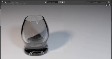 Deforming of cube – very  Basic Tutorial for Modeling and Visualisation of Glass in Blender 2.8