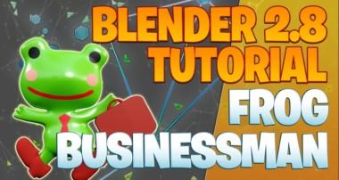 Modeling a frog businessman – Blender 2.8 Tutorial