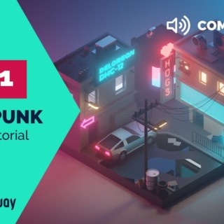Cyberpunk PART 1 Commentary – Blender 2.8 Low Poly 3D Modeling Tutorial