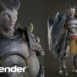 Blender 3D – Character Modeling, Texturing, Rendering