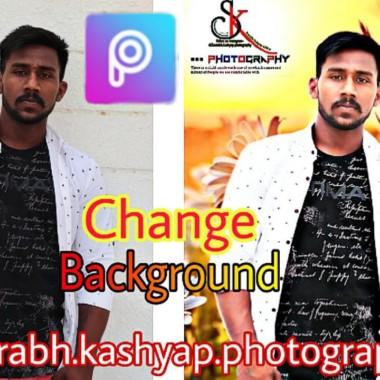 Photo background change in PicsArt | photo editing tutorials in PicsArt